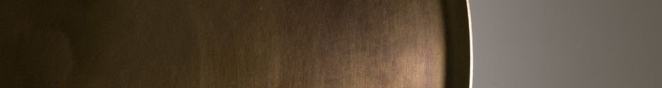 Materialbeschreibung Beistelltisch Eliot mit antikem Messing-Finish