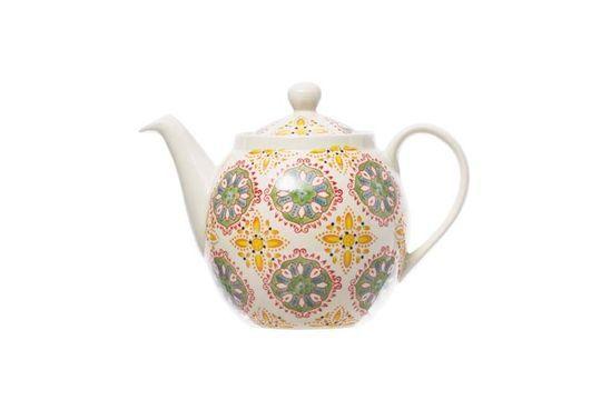 Böhmische Teekanne gelbgrün