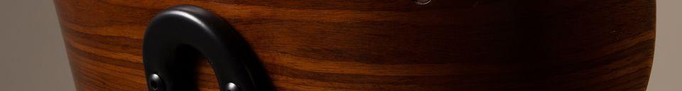 Materialbeschreibung Braun-schwarzer Stuhl Black Wood