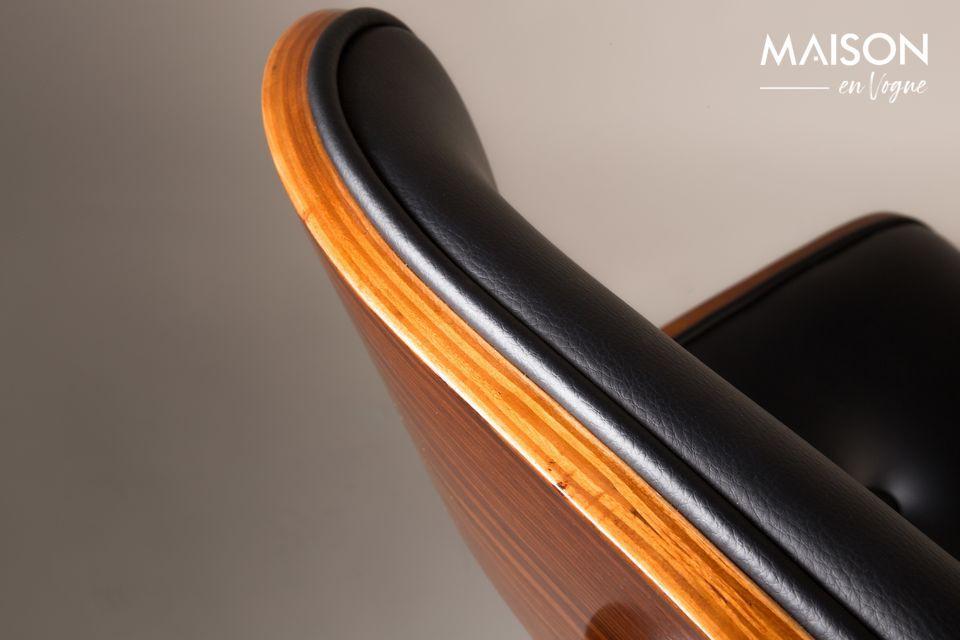 Braun-schwarzer Stuhl Black Wood - 7