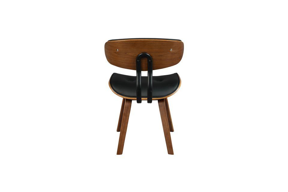 Braun-schwarzer Stuhl Black Wood - 9