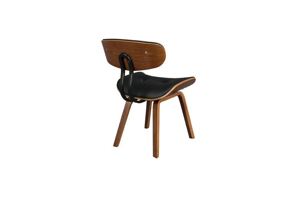 Braun-schwarzer Stuhl Black Wood - 10