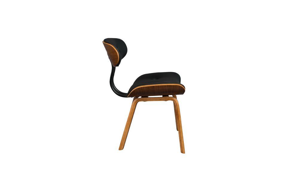 Braun-schwarzer Stuhl Black Wood - 11