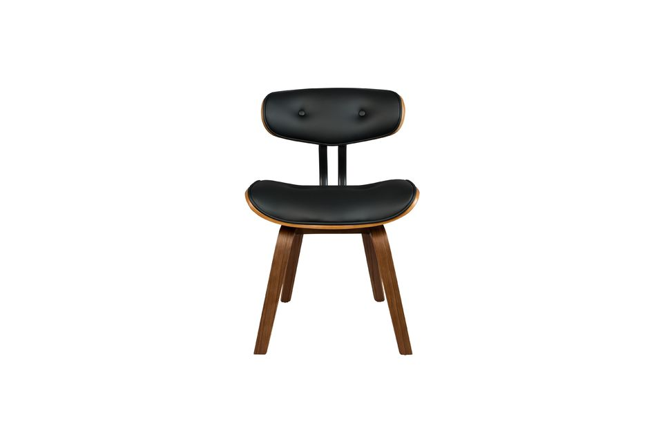 Braun-schwarzer Stuhl Black Wood - 12