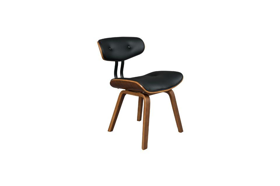 Braun-schwarzer Stuhl Black Wood - 8