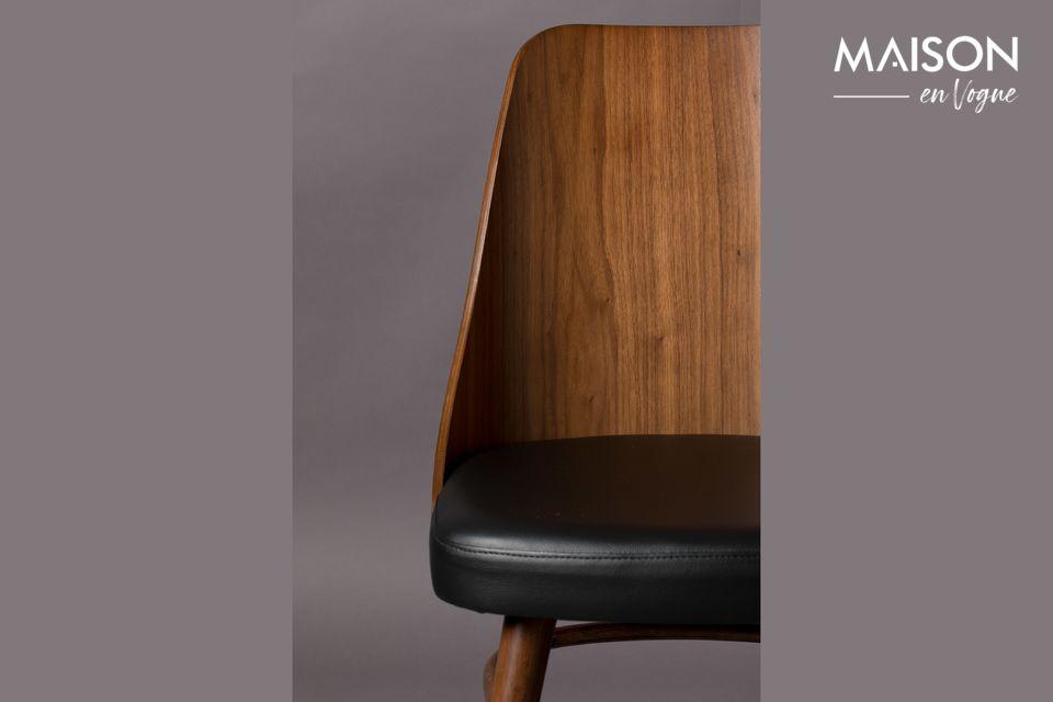 Braun und schwarzer Stuhl Chaya | Maison en Vogue
