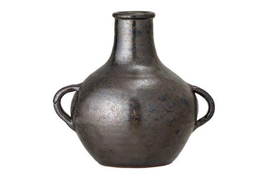 Calzan-Vase aus schwarzer Terrakotta