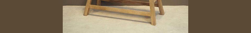 Materialbeschreibung Chersey Bank aus Naturholz für 2 Personen