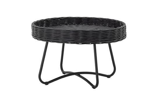 Couchtisch Hattie aus schwarzem Rattan