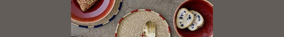 Materialbeschreibung Dekorativer Teller Eloie