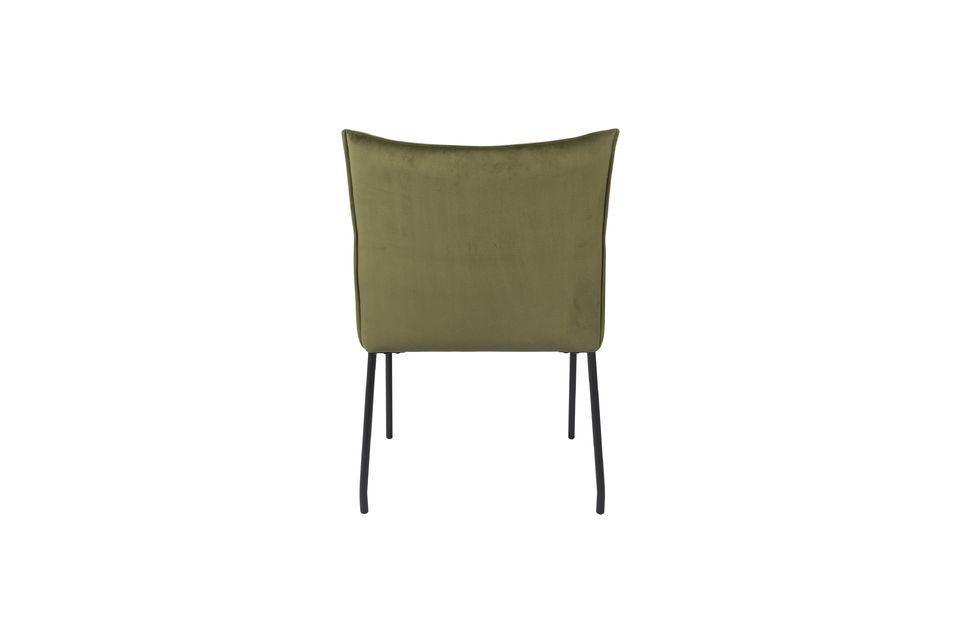 Dion-Sessel aus olivgrünem Samt - 8