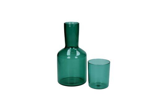 Duo aus Glas und Glaskaraffe Lasi