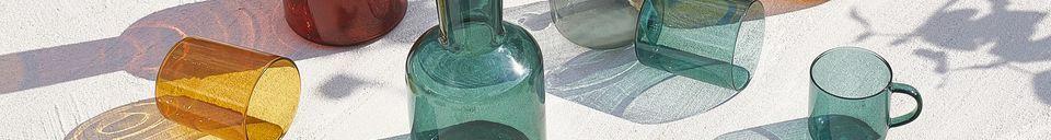 Materialbeschreibung Duo aus Glas und Glaskaraffe Lasi