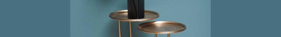 Materialbeschreibung Duo Besistelltische aus Metall Eclipse
