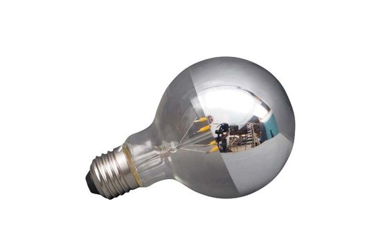 E27 LED Glühbirne silber