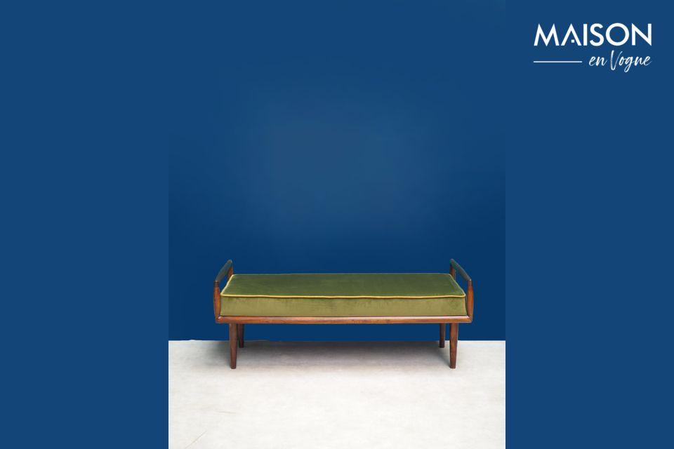 Farrow Sitzbank mit grünem Samt Chehoma