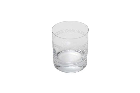 Graviertes Laurier-Whisky-Glas