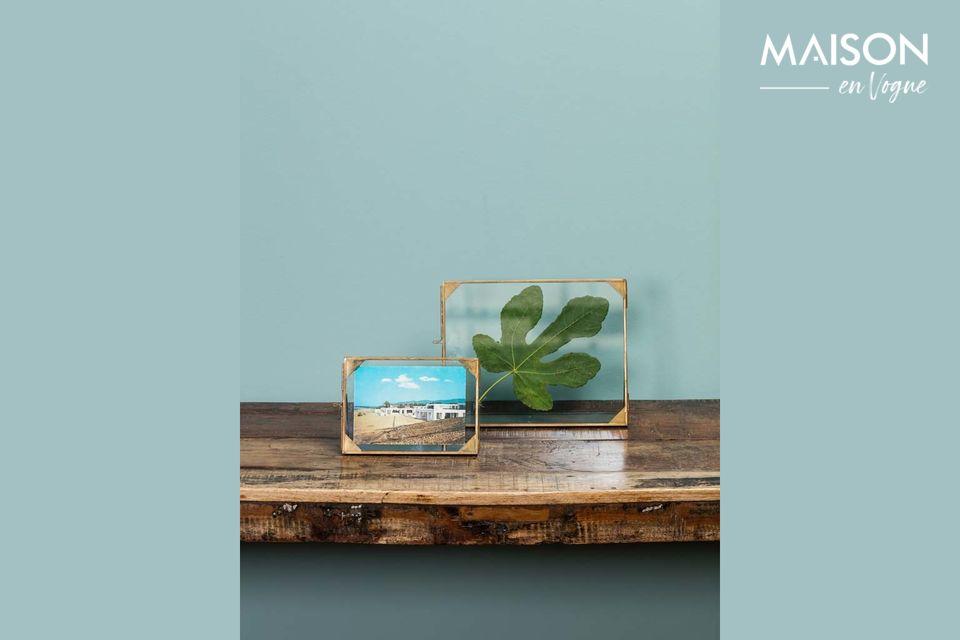 Ein prächtiger Glasrahmen mit raffiniertem Design