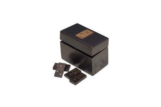 Hölzerne Bouhey-Domino-Box mit Messingdetails ohne jede Grenze