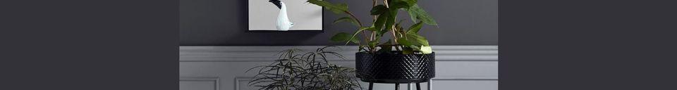 Materialbeschreibung Indischer Pflanzenständer aus Schwarzmetall