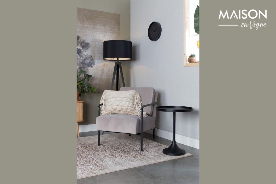 Ein praktischer Tisch mit einem einfachen, aber dynamischen Design
