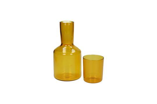 Karaffe und passendes Glas Lasi ohne jede Grenze