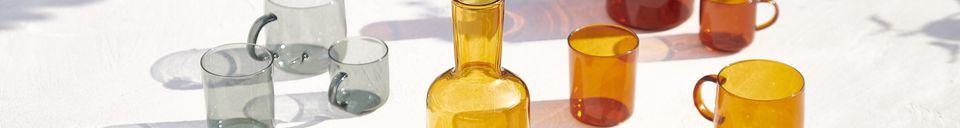 Materialbeschreibung Karaffe und passendes Glas Lasi
