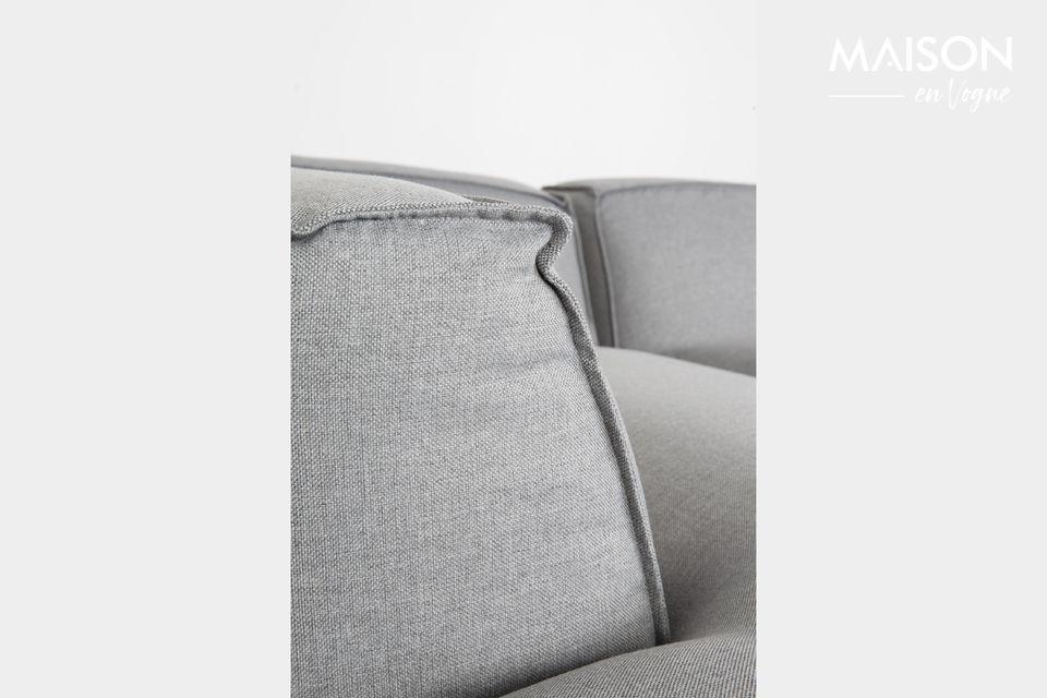 Dieses Ecksofa vereint unvergleichlichen Komfort und Modernismus
