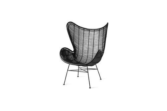 Lizos Stuhl aus schwarzem Rattan ohne jede Grenze