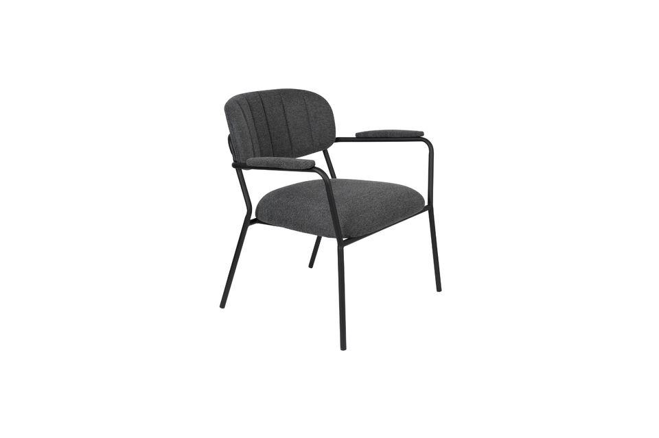 Lounge-Sessel Jolien dunkelgrau - 5