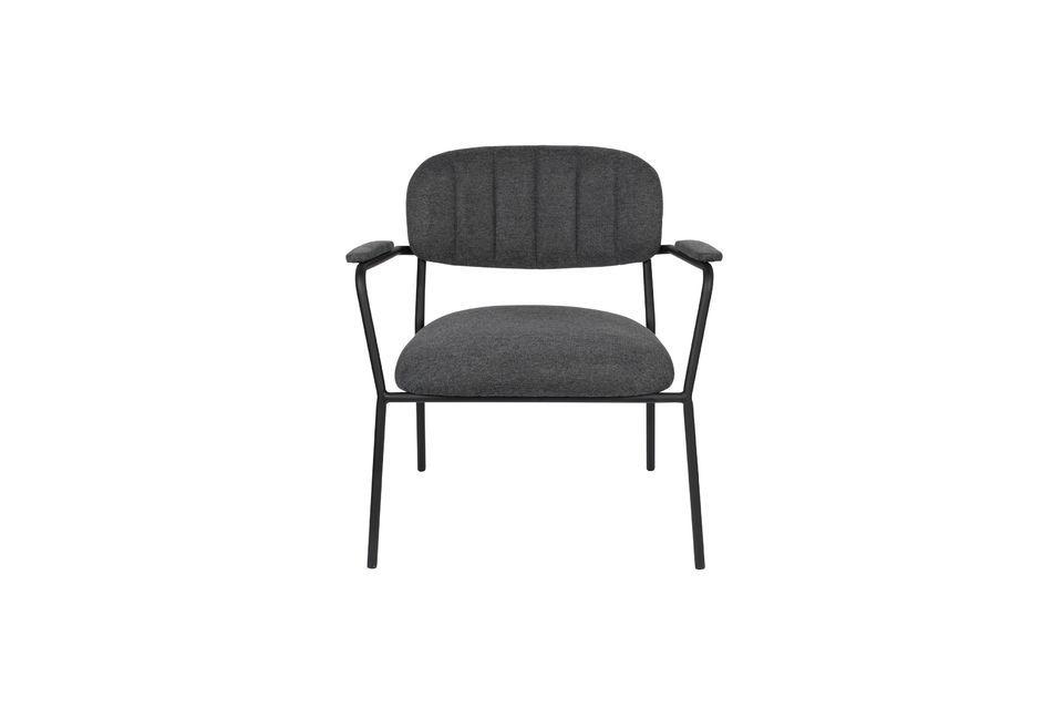 Lounge-Sessel Jolien dunkelgrau - 6