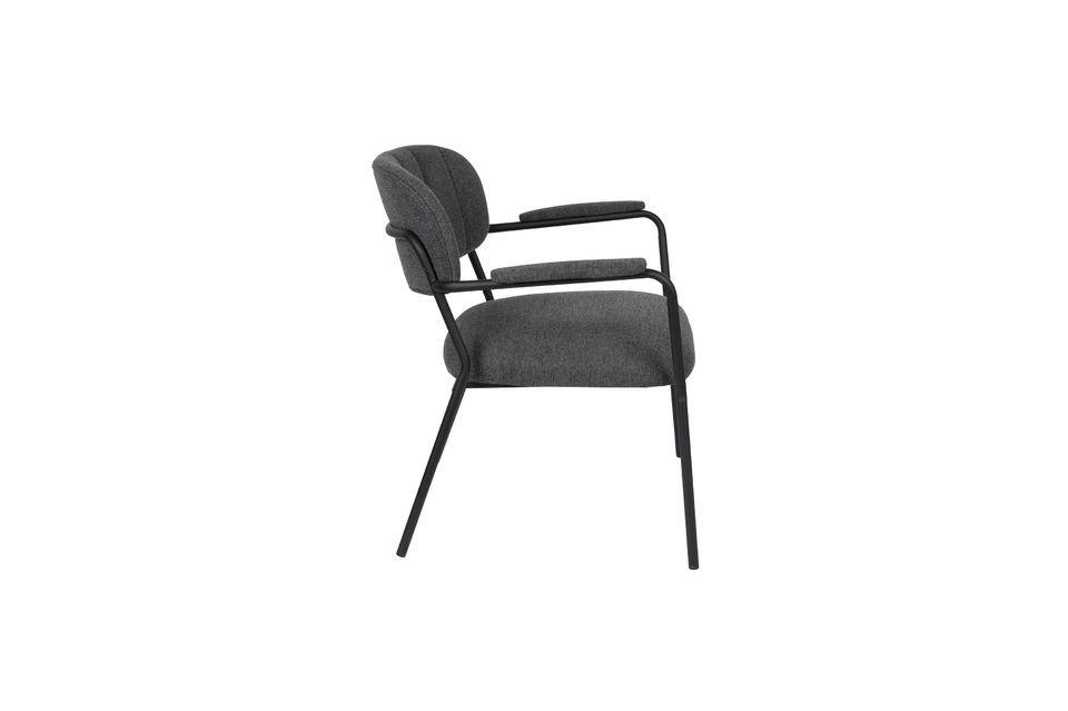 Lounge-Sessel Jolien dunkelgrau - 7