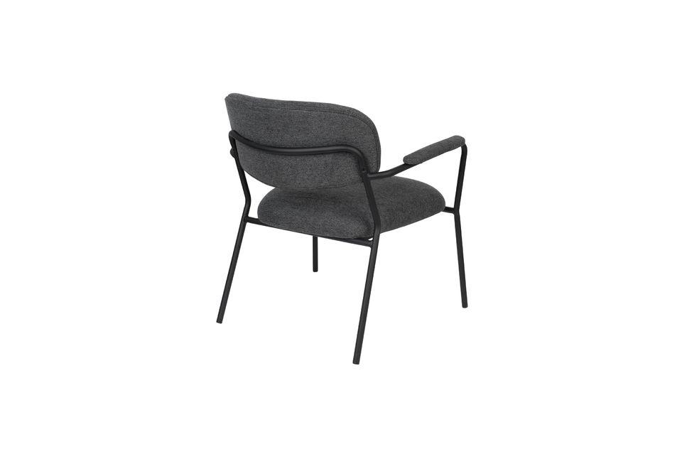 Lounge-Sessel Jolien dunkelgrau - 8