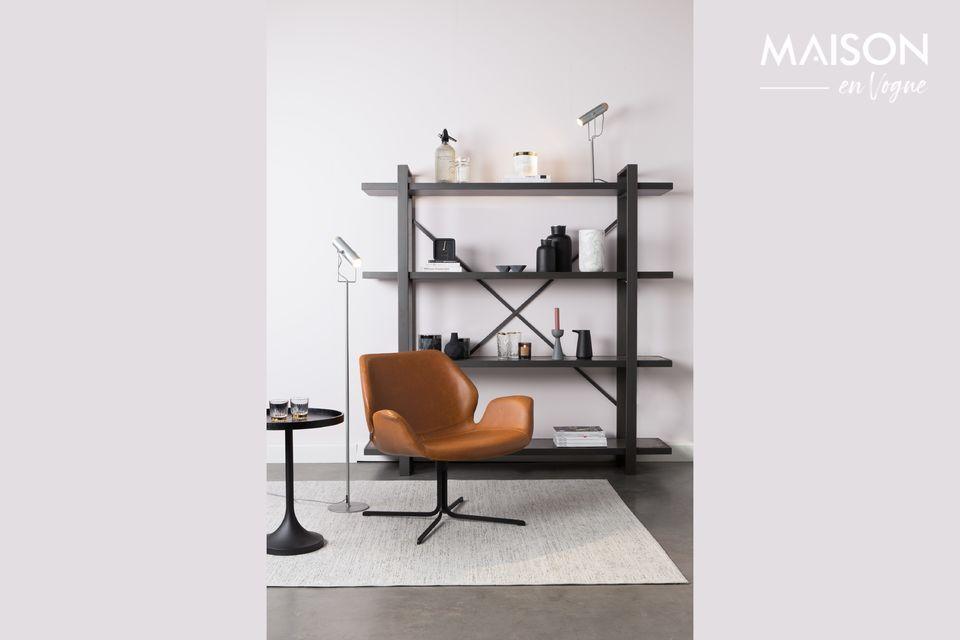 Lounge-Stuhl Nikki braun Zuiver