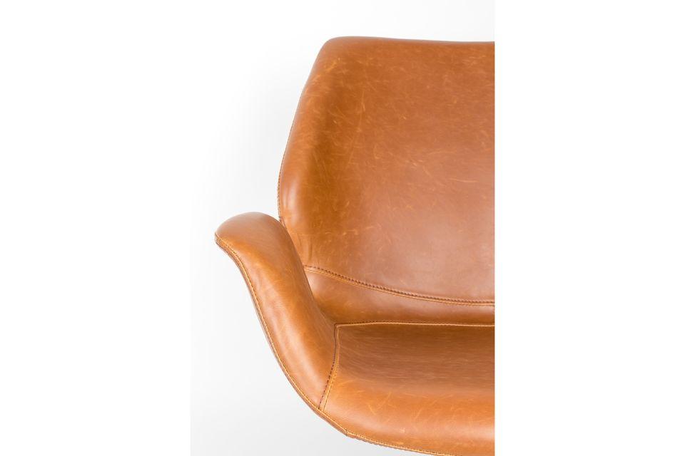 Lounge-Stuhl Nikki braun - 5