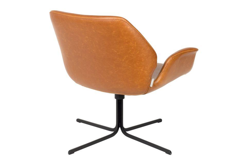 Lounge-Stuhl Nikki braun - 8