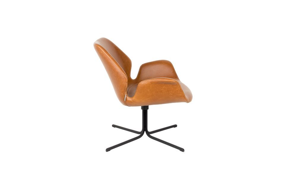 Lounge-Stuhl Nikki braun - 9