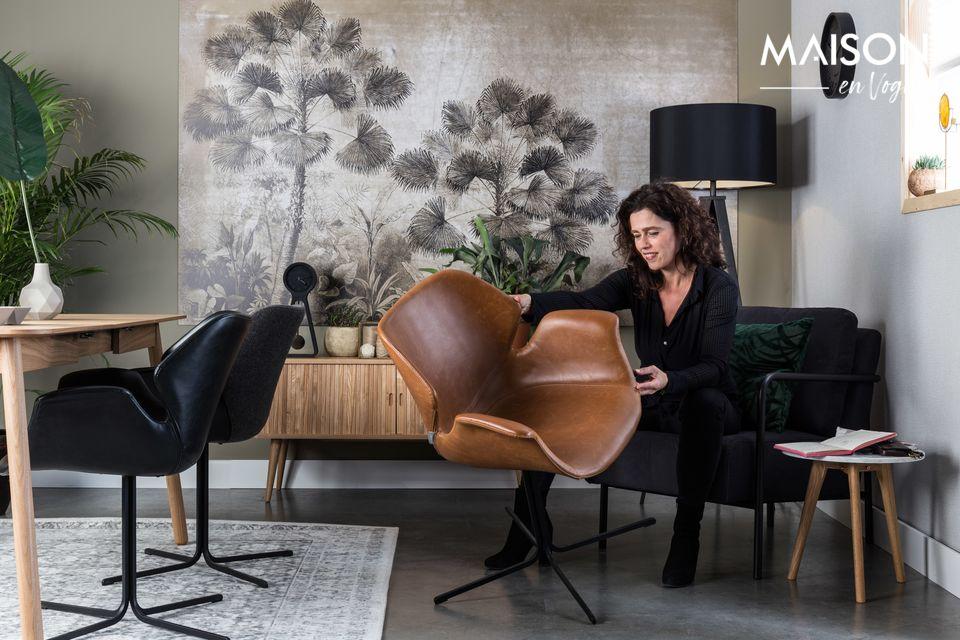 Vintage-Einflüsse für einen zeitgenössischen Sessel