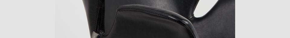 Materialbeschreibung Nikki-Sessel ganz schwarz