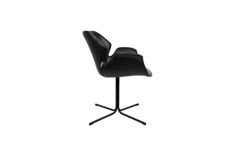 Nikki-Sessel ganz schwarz - 6