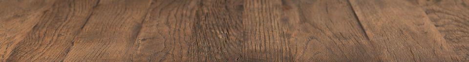 Materialbeschreibung Quadratischer Theken-Tisch Braza in braun