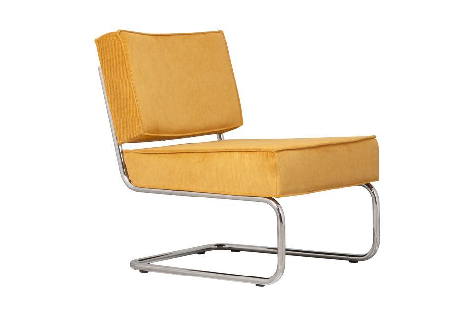 Ridge Rib Lounge Stuhl Gelb Zuiver