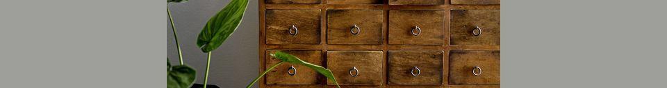 Materialbeschreibung Roilly Kommode aus Recyclingholz braun