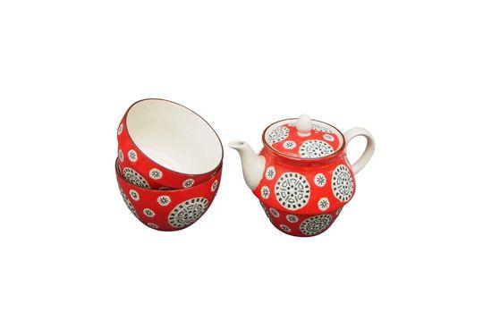 Rote bohemian Teekanne