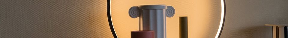 Materialbeschreibung Runde Collat-Tischlampe