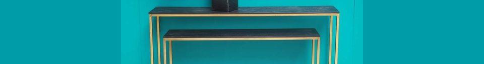 Materialbeschreibung Schachtelkonsolen aus Holz und Metall Flaux