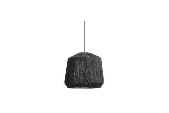 Schwarzer Lampenschirm aus Jute
