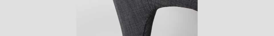 Materialbeschreibung Schwarzer und dunkelgrauer Flexback-Sessel