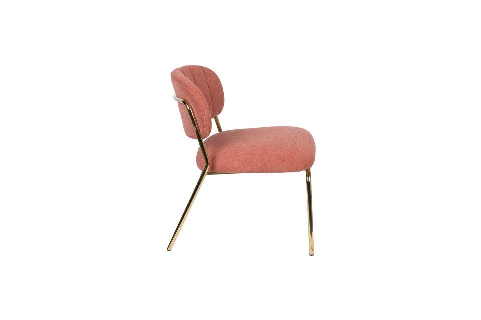 Sessel Jolien gold und rosa - 6