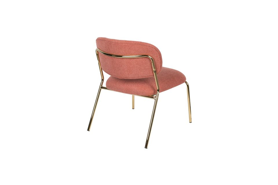 Sessel Jolien gold und rosa - 7